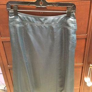 Louis Vuitton blue silk skirt size 38